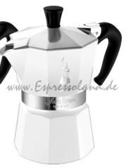 Bialetti Moka Express 3 Tassen - weiß