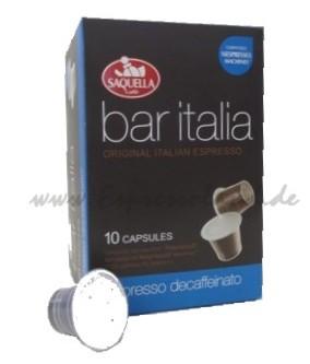 Saquella bar italia espresso decaffeinato Kapseln